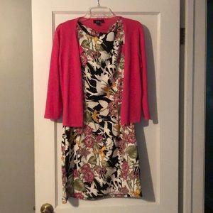 AGB floral dress & cardigan